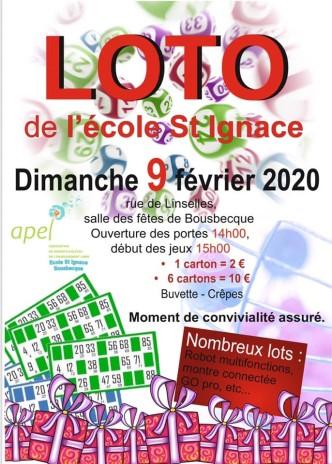 Loto de St Ignace  Le 9 février 2020